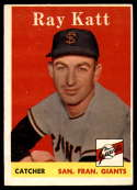 1958 Topps #284 Ray Katt EX Excellent