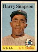 1958 Topps #299 Harry Simpson EX Excellent