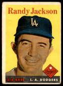 1958 Topps #301 Randy Jackson G/VG Good/Very Good