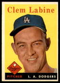 1958 Topps #305 Clem Labine UER VG/EX Very Good/Excellent