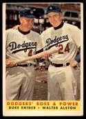 1958 Topps #314 Duke Snider/Walt Alston Dodgers' Boss & Power VG Very Good