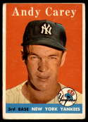 1958 Topps #333 Andy Carey VG Very Good