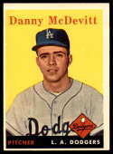 1958 Topps #357 Danny McDevitt VG/EX Very Good/Excellent RC Rookie