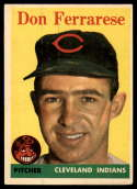 1958 Topps #469 Don Ferrarese UER EX Excellent
