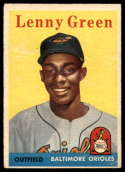 1958 Topps #471 Lenny Green VG/EX Very Good/Excellent RC Rookie