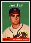 1958 Topps #472 Joe Jay VG/EX Very Good/Excellent