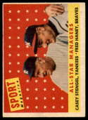 1958 Topps #475 Casey Stengel/Fred Haney All-Star Managers) marked