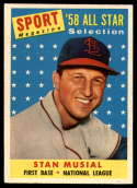 1958 Topps #476 Stan Musial AS TP EX/NM