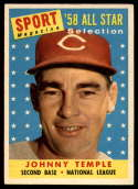 1958 Topps #478 Johnny Temple UER AS EX Excellent