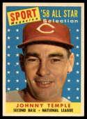1958 Topps #478 Johnny Temple UER AS EX/NM
