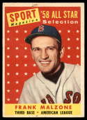 1958 Topps #481 Frank Malzone AS hole
