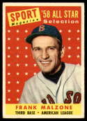 1958 Topps #481 Frank Malzone AS EX Excellent