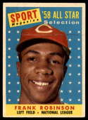 1958 Topps #484 Frank Robinson AS EX Excellent