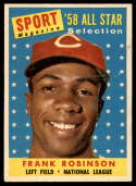 1958 Topps #484 Frank Robinson AS EX/NM