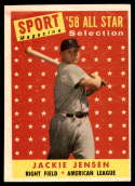 1958 Topps #489 Jackie Jensen AS EX Excellent