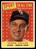 1958 Topps #491 Sherm Lollar AS VG/EX Very Good/Excellent
