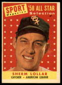 1958 Topps #491 Sherm Lollar AS marked