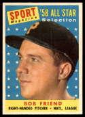 1958 Topps #492 Bob Friend AS EX/NM