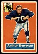 1956 Topps #36 Art Donovan VG Very Good