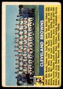 1956 Topps #45 Browns Team VG Very Good