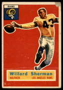1956 Topps #66 Will Sherman P Poor