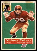 1956 Topps #73 Volney Peters taped SP