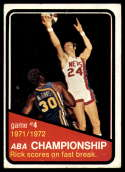 1972-73 Topps #244 ABA Playoffs Game 4 VG/EX Very Good/Excellent