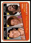 1972-73 Topps #262 Rick Barry/Mack Calvin/Jones ABA League Leaders NM-MT
