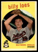 1959 Topps #336b No Trade Billy Loes VG/EX Very Good/Excellent
