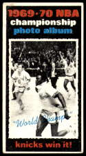 1970-71 Topps #175 1969-70 NBA Championship Final Stats VG Very Good