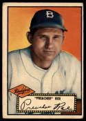1952 Topps #66b Preacher Roe VG Very Good Black Back