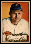 1952 Topps #66 Preacher Roe VG Very Good Red Back
