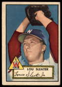 1952 Topps #306 Lou Sleater VG/EX Very Good/Excellent RC Rookie