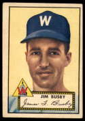 1952 Topps #309 Jim Busby EX Excellent