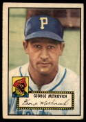 1952 Topps #310 George Metkovich VG/EX Very Good/Excellent