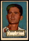 1952 Topps #316 Davey Williams VG Very Good RC Rookie