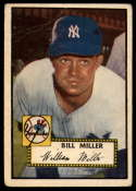 1952 Topps #403 Bill Miller VG Very Good RC Rookie