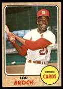 1968 Topps #520 Lou Brock VG/EX Very Good/Excellent