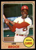 1968 Topps #520 Lou Brock EX Excellent