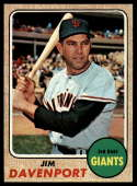 1968 Topps #525 Jim Davenport VG/EX Very Good/Excellent