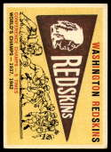 1959 Topps #168 Redskins Pennant VG Very Good