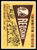 1959 Topps #168 Redskins Pennant EX Excellent