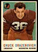 1959 Topps #172 Chuck Drazenovich UER VG/EX Very Good/Excellent
