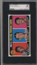 1970-71 Topps #3 Johnny Green/Darrall Imhoff/Lou Hudson 1969-70 Field Goal Percentage Leaders SGC 88 8