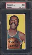 1970-71 Topps #162 Fred Crawford PSA 7