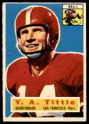 1956 Topps #86 Y. A. Tittle EX Excellent