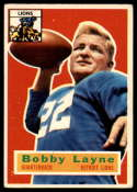 1956 Topps #116 Bobby Layne VG Very Good