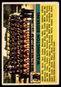 1956 Topps #61 Redskins Team VG/EX Very Good/Excellent SP