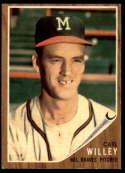 1962 Topps #174b Carl Willey EX/NM green tint