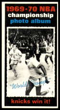 1970-71 Topps #175 1969-70 NBA Championship Final Stats VG/EX Very Good/Excellent